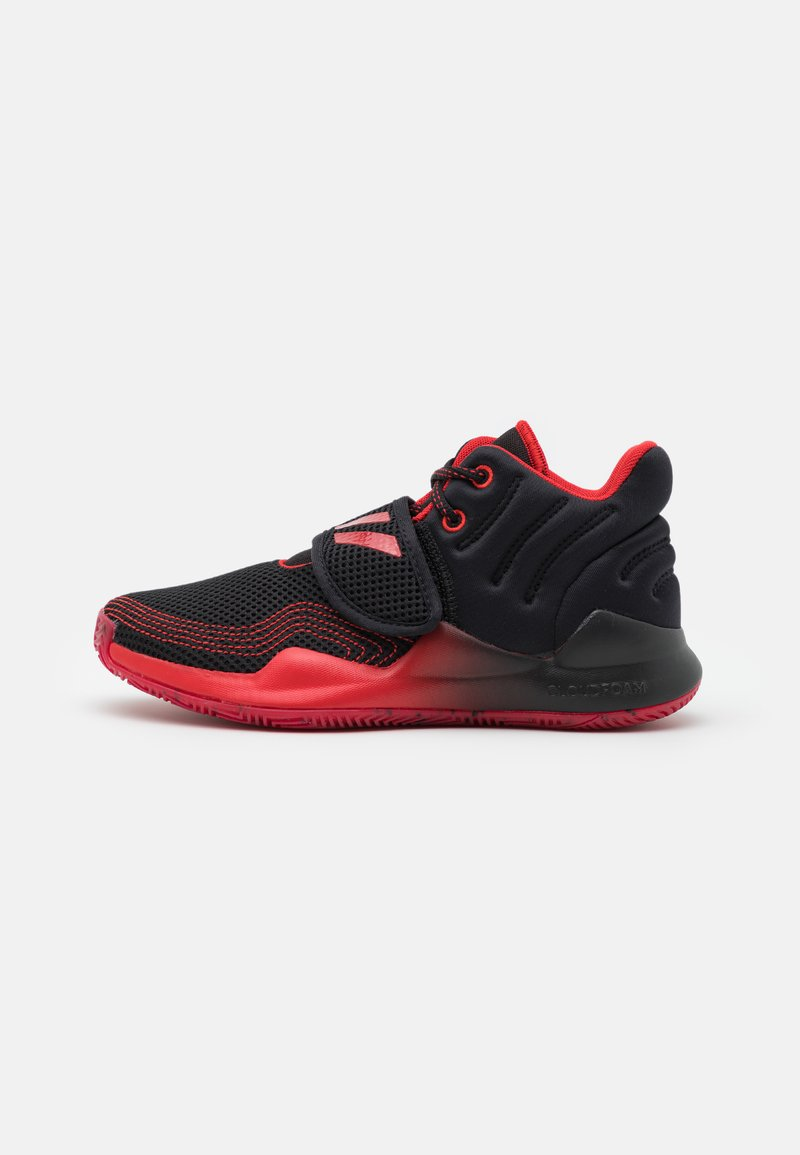 adidas Performance - DEEP THREAT PRIMEBLUE BASKETBALL TEAM CLOUDFOAM SHOES UNISEX - Zapatillas de baloncesto - core black/vivid red