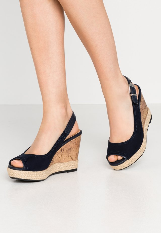 SWAN - Sandaler med høye hæler - navy