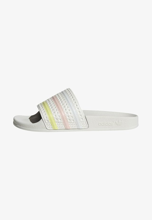 ADILETTE ORIGINALS SLIDES - Chanclas de baño - off white/yellow tint/pink tint