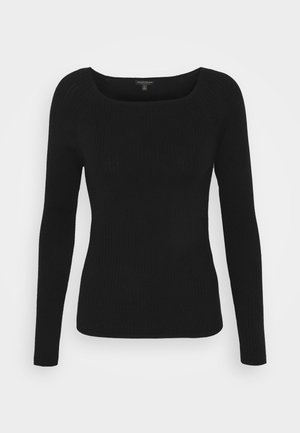 STRETCH BOATNECK - Strikkegenser - black