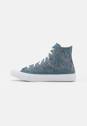 CHUCK TAYLOR ALL STAR RENEW UNISEX - Höga sneakers - lakeside blue/powder green/white