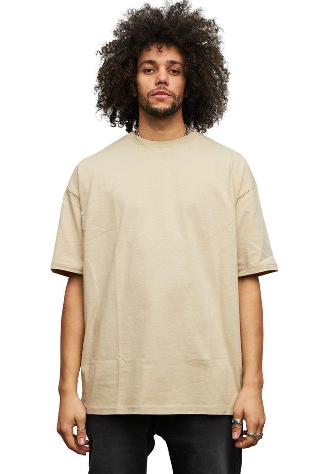 OVERSIZE - T-shirt basic - beige