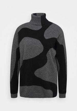 Sweter - med grey/black