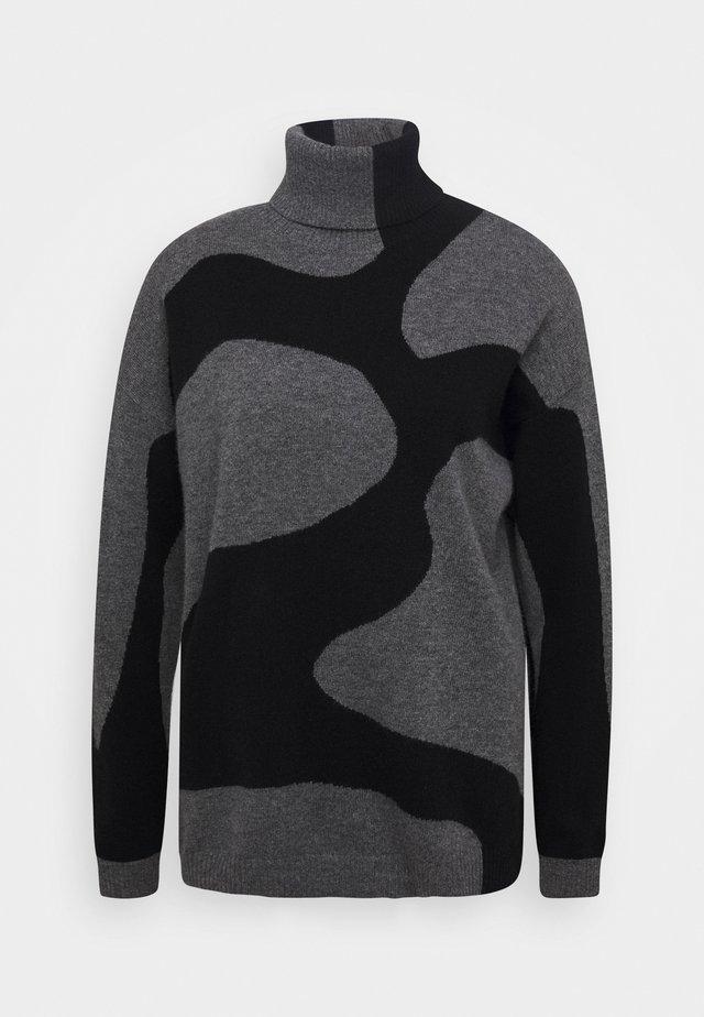 Pullover - med grey/black