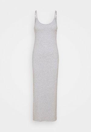 MAXI SLIP - Maxi dress - heather grey