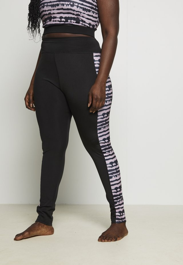 SEAMLESS SMOKEY LEGGING CUT SEW - Leggings - black/grey