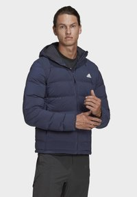 adidas Performance - HELIONIC SOFT HOODED DOWN JACKET - Down jacket - blue - 4