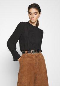 Selected Femme - SLFLIVIA - Blouse - black - 0