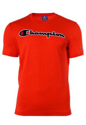 CREW NECK, RUNDHALS, COTTON  - T-shirt z nadrukiem - rot