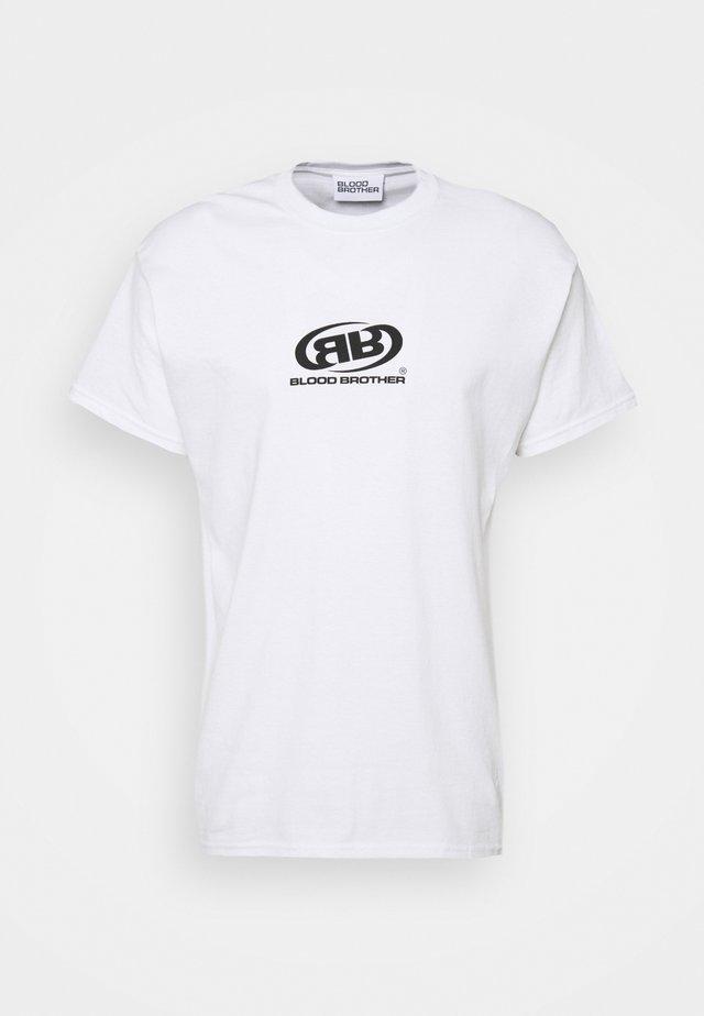 WHARVES BRANDED LOGO UNISEX - Print T-shirt - white