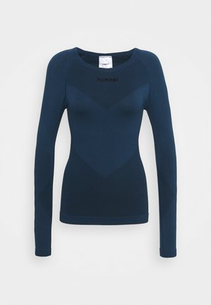 FIRST SEAMLESS WOMAN - Long sleeved top - dark denim