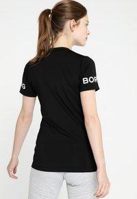 Björn Borg - CARLA TEE - Triko spotiskem - black beauty - 2