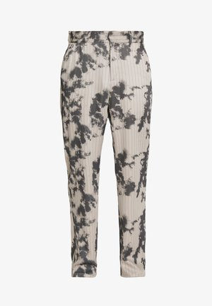 BLEACHED PINSTRIPE TROUSER - Kalhoty - grey