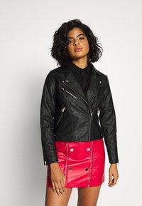 River Island - Faux leather jacket - black - 0