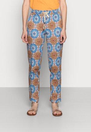 PANTS PRINTED SCUBA - Trousers - light blue