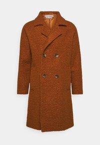 Another Influence - ELIAN TEXTURED OVERCOAT - Classic coat - rust - 0
