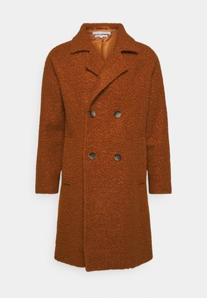 ELIAN TEXTURED OVERCOAT - Mantel - rust