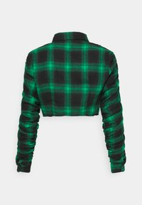 Missguided Petite - RUCHED DETAIL CHECK  - Skjorte - green - 1