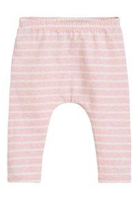 Next - WHITE/PINK BUNNY T-SHIRT, LEGGINGS AND HEADBAND SET (0MTHS-3YRS) - Leggings - Trousers - pink - 3