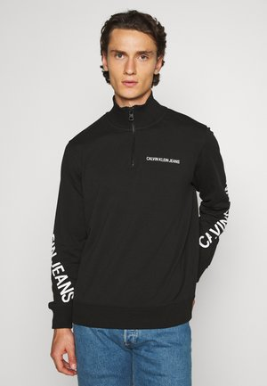 STRETCH LOGO HALF ZIP - Sweater - black