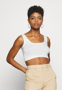 Even&Odd - SQUARE NECK CROP 2 PACK - Top - black/white - 3