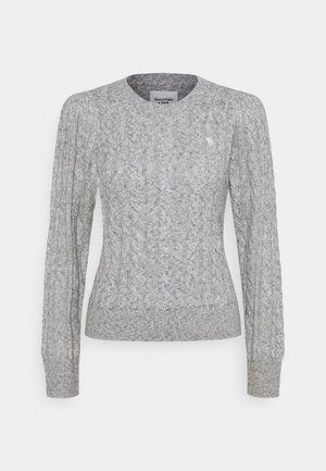CABLE ICON MOOSE CREW - Sweter - gray
