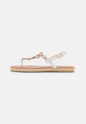 LAILAH - T-bar sandals - silver