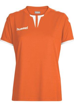 CORE SS - Print T-shirt - tangerine pr