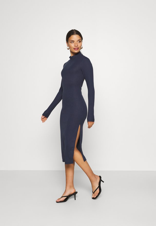 OPEN BACK BODYCON DRESS - Pouzdrové šaty - navy