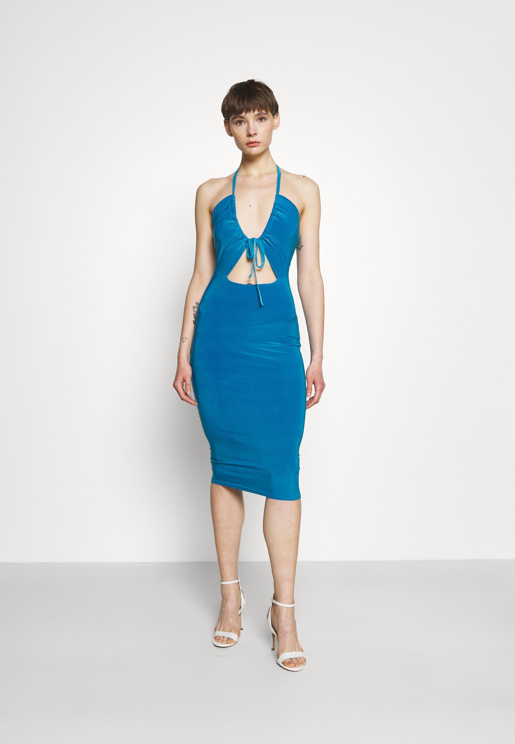 Women HALTER NECK CHANNEL CUT OUT - Jersey dress