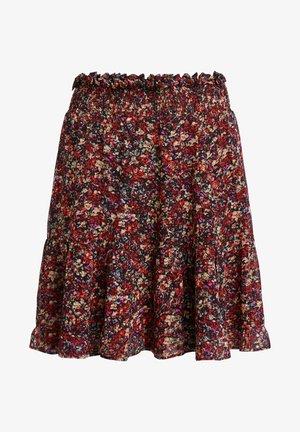 A-line skirt - black red