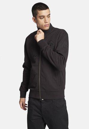 QUILT - Sweater met rits - black