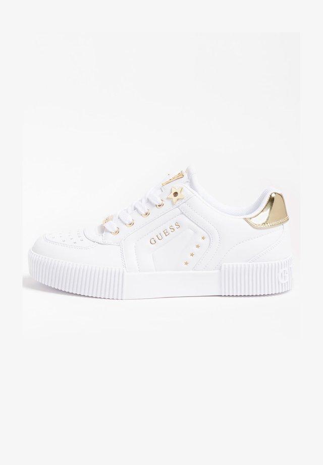 FRANSEY PRÄGUNG STERNE - Sneakers laag - weiß