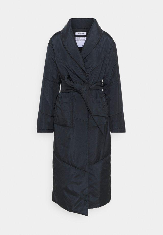 PUFFER DRESSING ROBE - Klassisk frakke - black