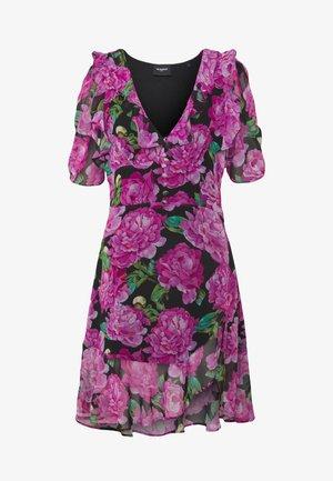 ROBE - Day dress - black/pink