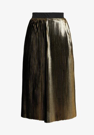 PLEATED SKIRT - A-line skirt - gold