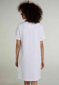 Oui - Jersey dress - optic white - 2