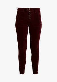 HIGH RISE FASHION - Trousers - burgundy