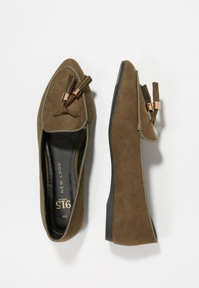 LETTY TAB TASSLE - Loaferit/pistokkaat - khaki