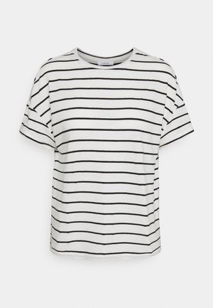 SILEIKA - Print T-shirt - white/black