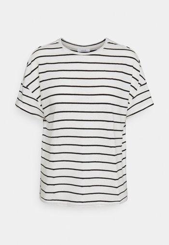 SILEIKA - Print T-shirt - white/black