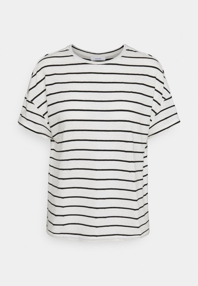 SILEIKA - T-shirt con stampa - white/black