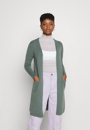 VMDOFFYSOLID CARDIGAN - Kardigan - laurel wreath/solid