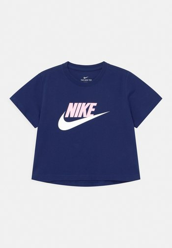 CROP FUTURA - T-shirt print - blue void/arctic punch