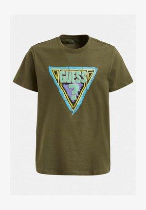 LOGODREIECK - T-shirt con stampa - dunkelgrün