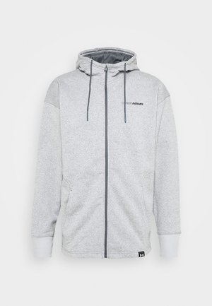 Zip-up hoodie - pitch gray light heather