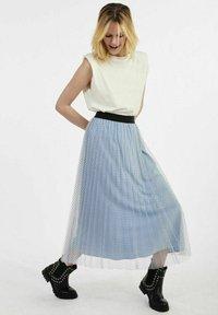 NAF NAF - A-line skirt - blue - 1