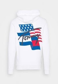 Tommy Jeans - FLAG GRAPHIC HOODIE - Sweat à capuche - white - 1