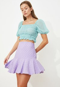 Trendyol - PARENT - A-line skirt - purple - 1