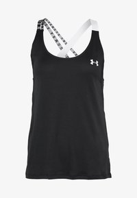 Under Armour - UA HG ARMOUR WM DOUBLE STRAP TANK - T-shirt de sport - black/white - 4